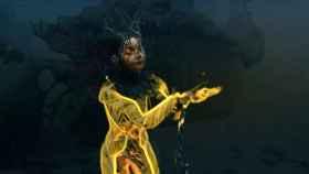 Björk en su nuevo trabajo.