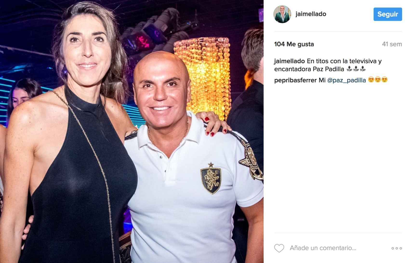 Jaime Lladó con Paz Padilla.