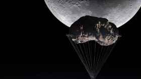 Un edificio colgará de un asteroide