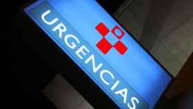 Cartel de urgencias en un ambulatorio.