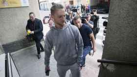 Maiki Fernández, jugador del Eldense, tras ser arrestado.