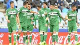 Los jugadores del leganés celebran un gol. Foto: deportivoleganes.com