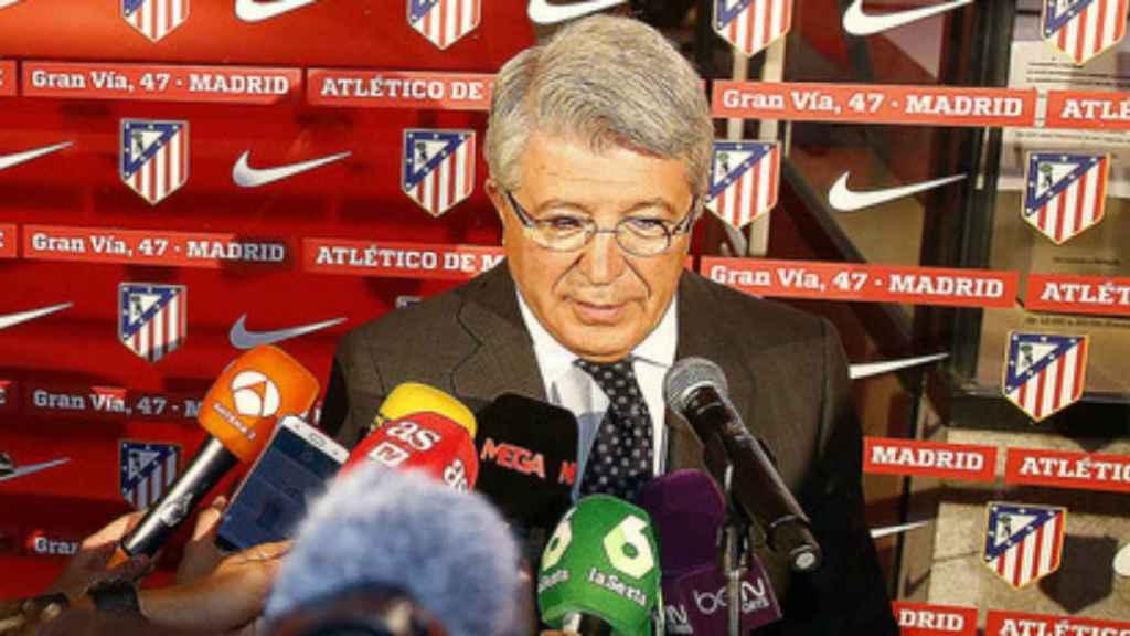 Enrique Cerezo, presidente del Atleti   Foto: atleticodemadrid.com
