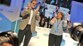 Rajoy y Bonig aplauden en la clausura del congreso regional del PP