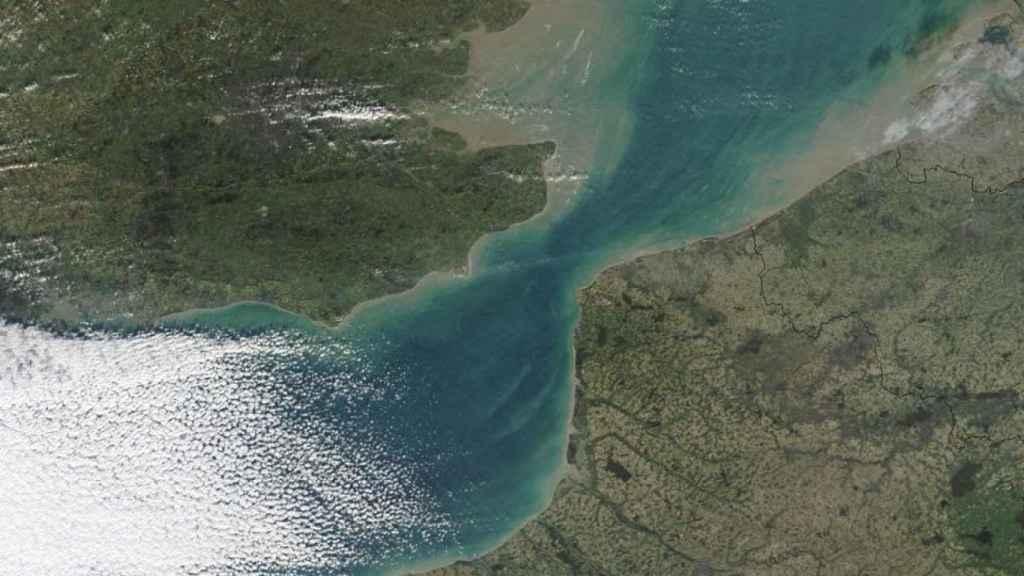 Vista actual del estrecho de Dover.