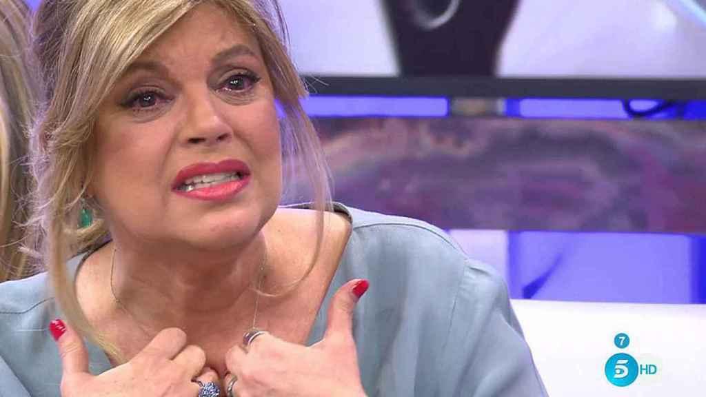 Terelu Campos rompe a llorar en 'Sálvame': Me siento sola. Esto me humilla