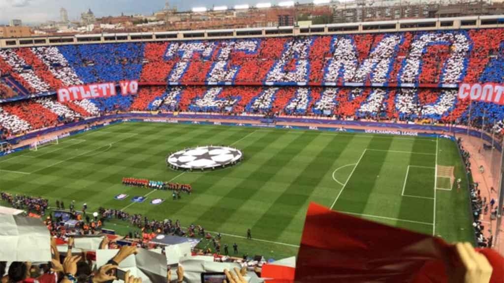 Estadio Vicente Calderón.