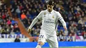 Morata en el Real Madrid-Betis. Foto: Lucía Contreras/El Bernabéu