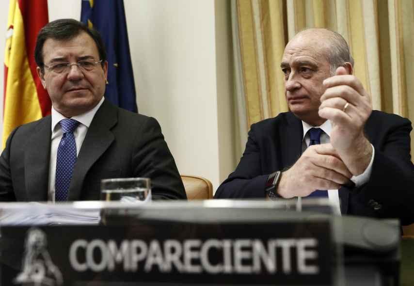 Fernández Díaz, en su comparecencia de hace unos días en la comisión sobre las escuchas de Interior.