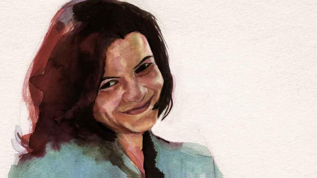 Ilustración de Vicky basada en una imagen real de la vigésimo segunda víctima de la violencia machista