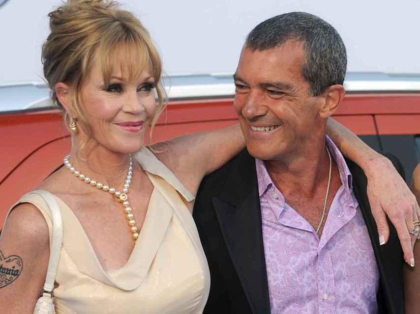Melanie Griffith y Antonio Banderas en Marbella en 2013.