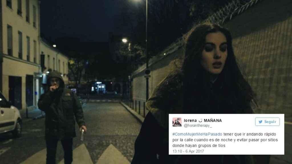 Un secuencia del corto francés  'Au Bout de la Rue', sobre el miedo de las mujeres a volver solas a casa.