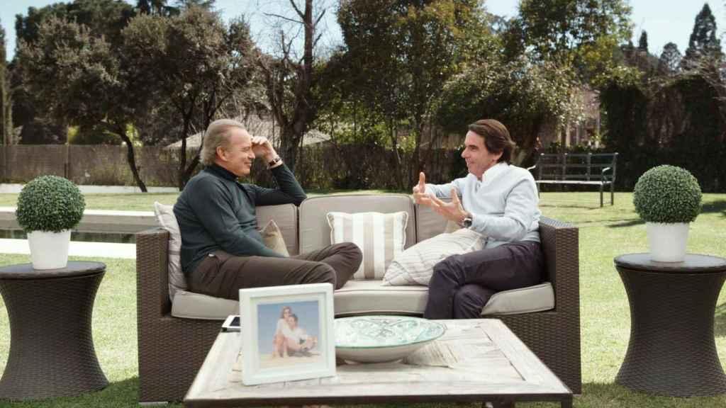 El expresidente del Gobierno, José María Aznar, en un momento de la entrevista con Bertín Osborne.