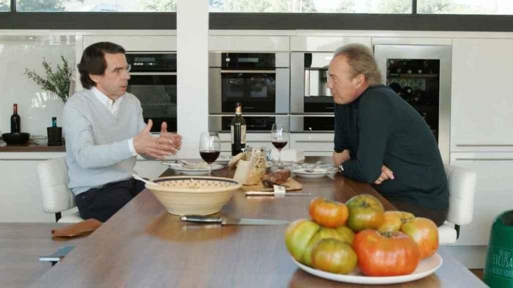 Aznar y Bertín, en un momento de la entrevista.
