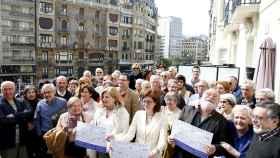 Presentación el manifiesto Por un fin de ETA sin impunidad, firmado por un centenar de intelectuales y afectados por el terrorismo.
