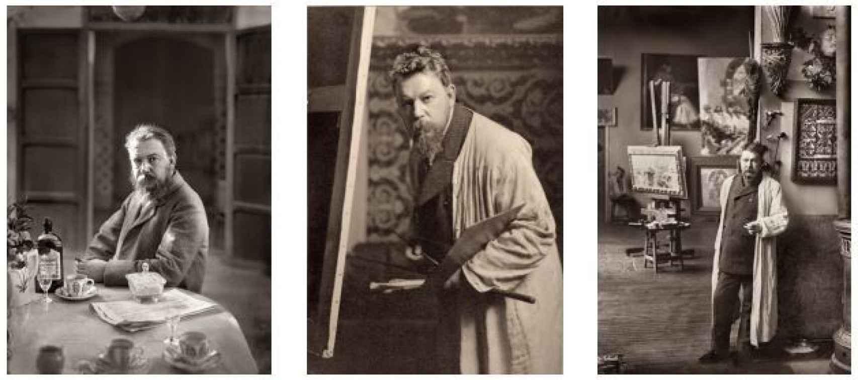 Sorolla retratado en 1904, 1905 y 1906.