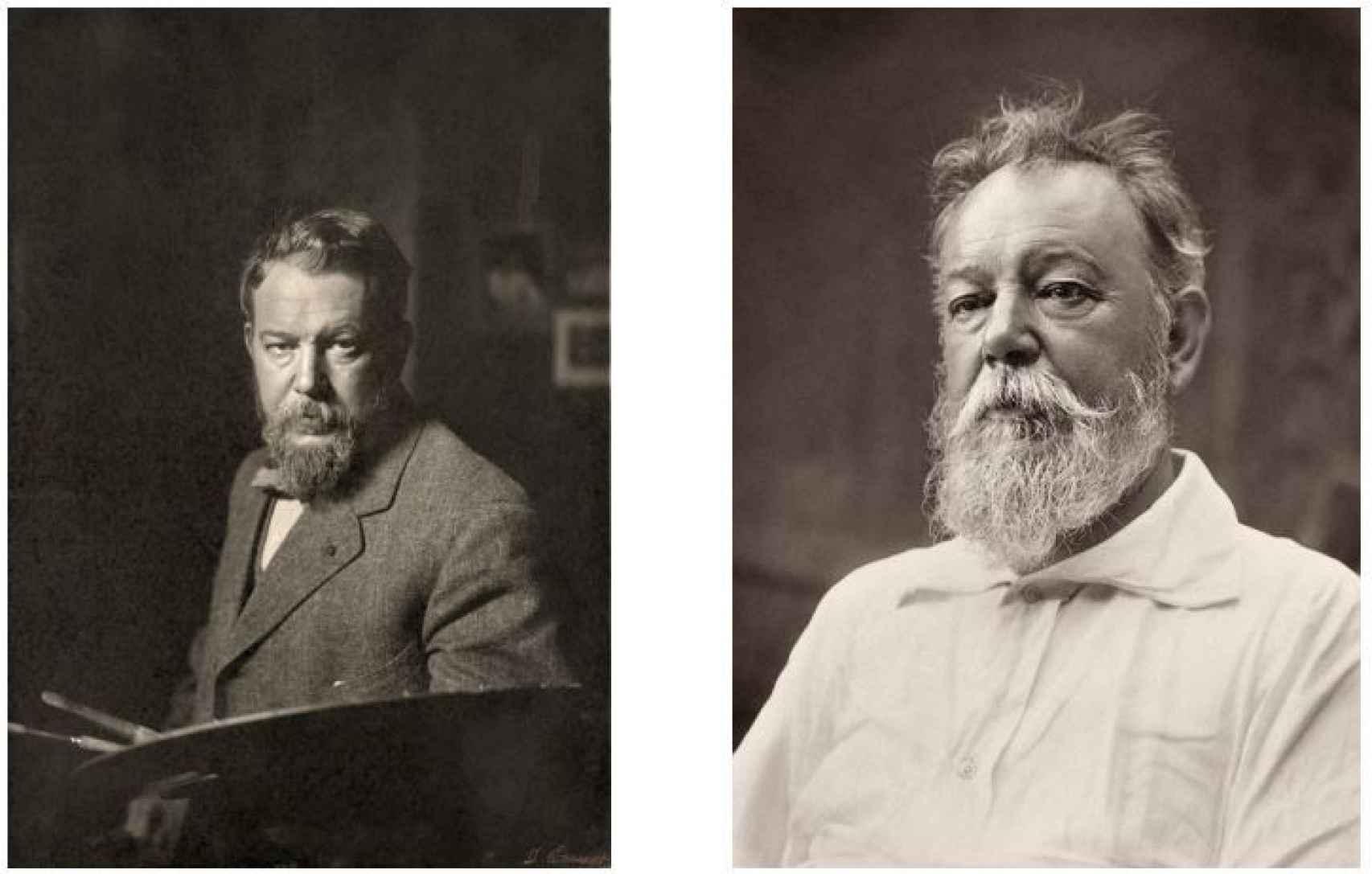 Sorolla retratado en 1909 y 1919.