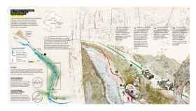 Infografía de los sucesos que tuvieron lugar en la Foz de Lumbier.
