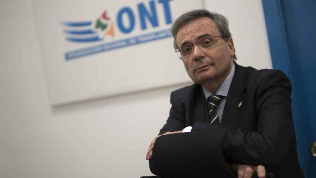 Matesanz en la sede de la ONT.