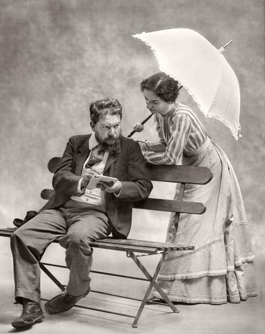 Joaquín Sorolla y Clotilde García del Castillo, en 1901.