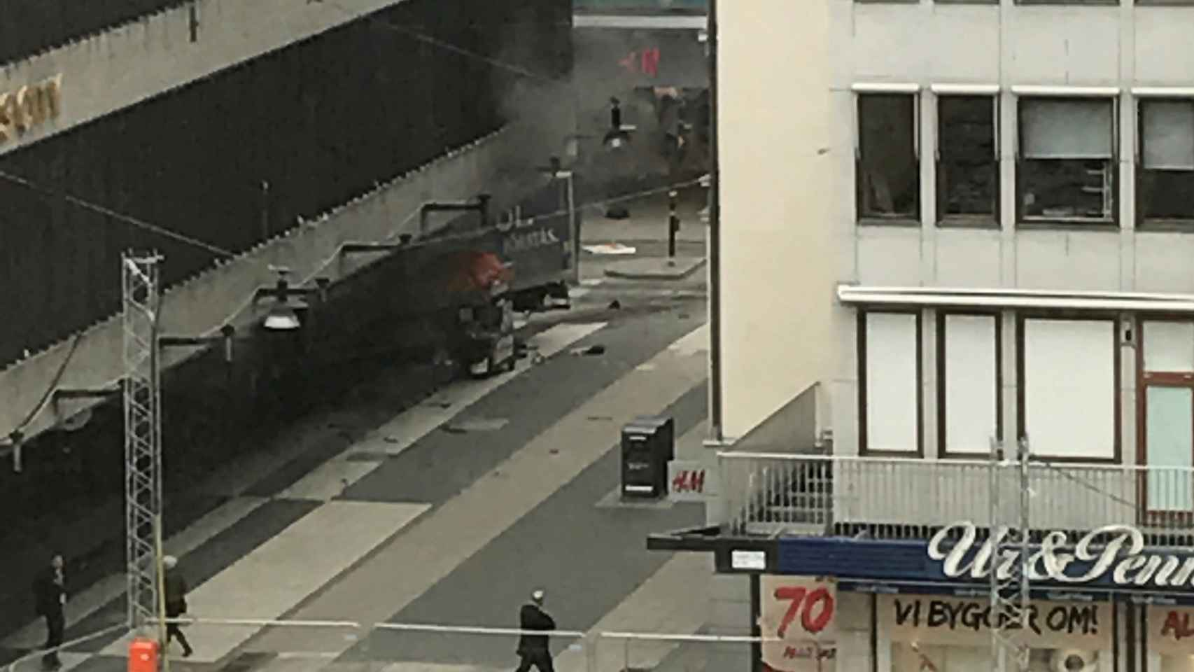 Atropello en Estocolmo.