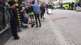 Imagen tras el ataque de Estocolmo.