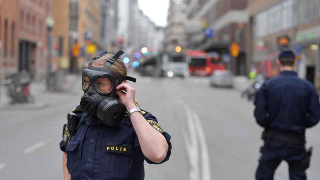 Cuatro personas murieron atropelladas por un camión en el centro de Estocolmo.