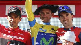 Podio final de la Vuelta a País Vasco 2017.