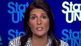 La embajadora de EEUU en Naciones Unidas, durante su intervención en la CNN