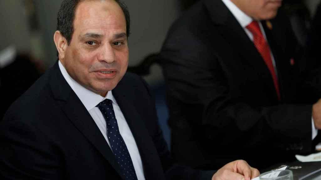 Al Sisi, durante una reunión en el Pentagono