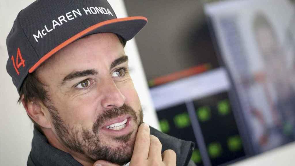 Fernando Alonso durante el GP de China.