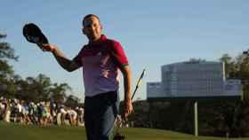 El golfista español no llegaba líder al último día desde 2007.