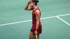 Carolina Marín en una imagen de la semana pasada.