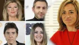 Algunos rostros de la televisión se han despedido de la exministra de Defensa.