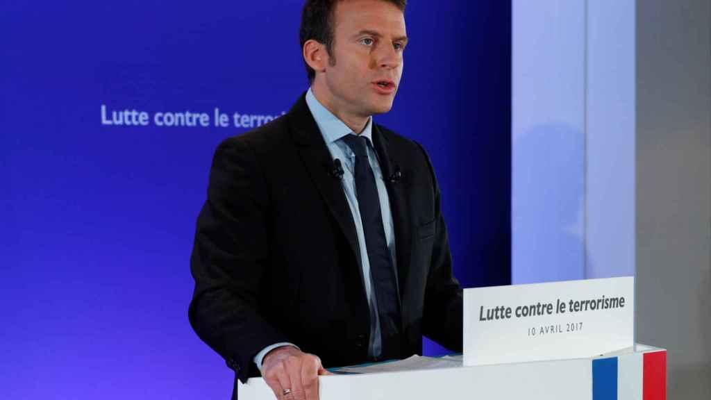Macron en un momento del discurso.