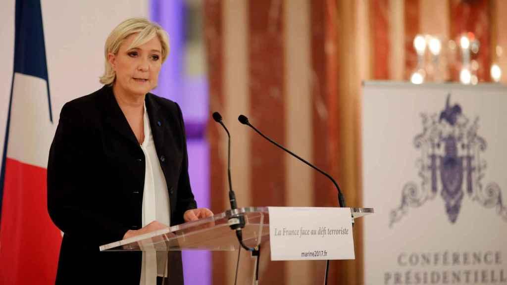 Marine Le Pen, líder del Frente Nacional.