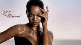 """Imagen de la campaña de """"RihannaLovesChopard"""", con la línea de joyería más """"asequible"""".   Foto: Chopard."""