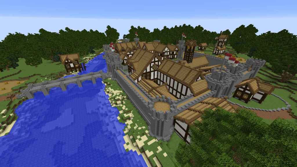 Rise of Londinium, uno de los mundos que estará en el mercado de Minecraft.