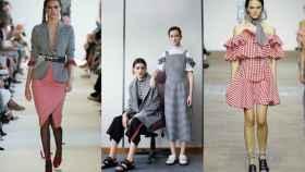 De izquierda a derecha, modelos de Altuzarra, de la colección Resort de Mother of Pearl y de House of Holland.