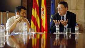 El conseller de Educación, Vicent Marzà, con el presidente valenciano, Ximo Puig.