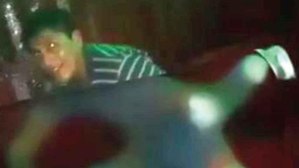 La imagen del rostro del violador distribuida en las redes.