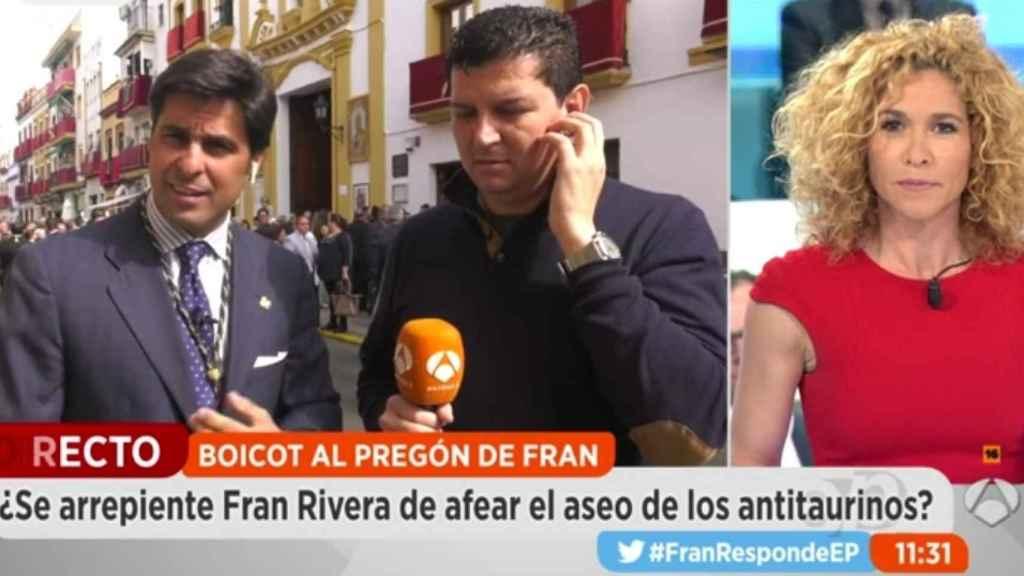 Fran Rivera, en un momento de la conexión.