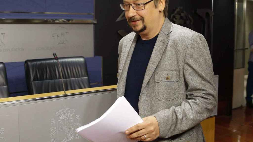 Xavi Domènech, en el Congreso de los Diputados.