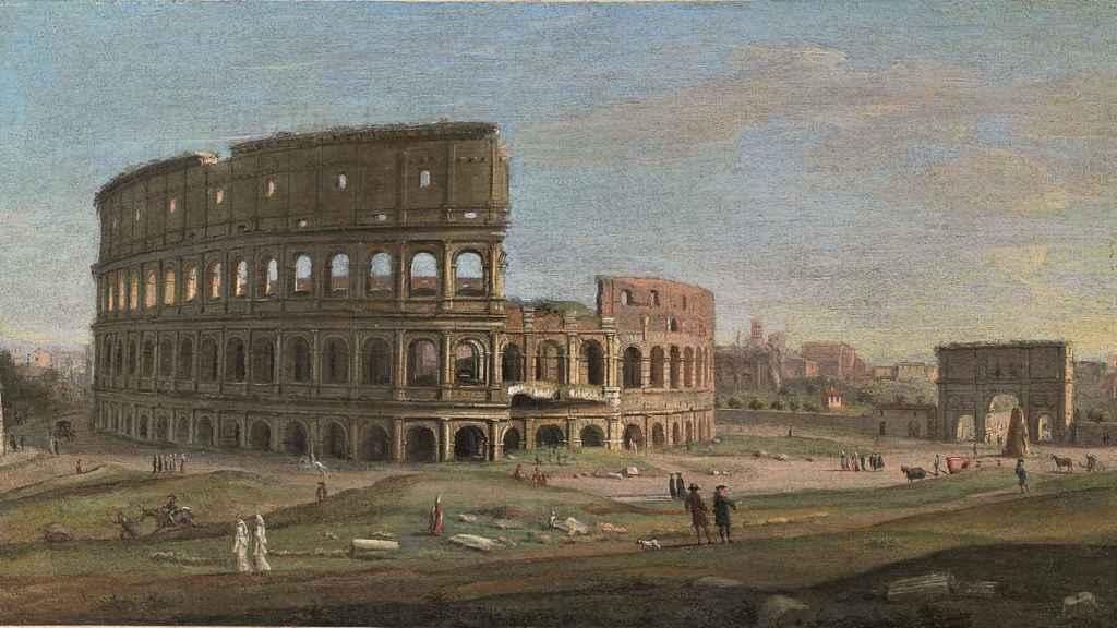 El Coliseo y el Arco de Constantino (1730).
