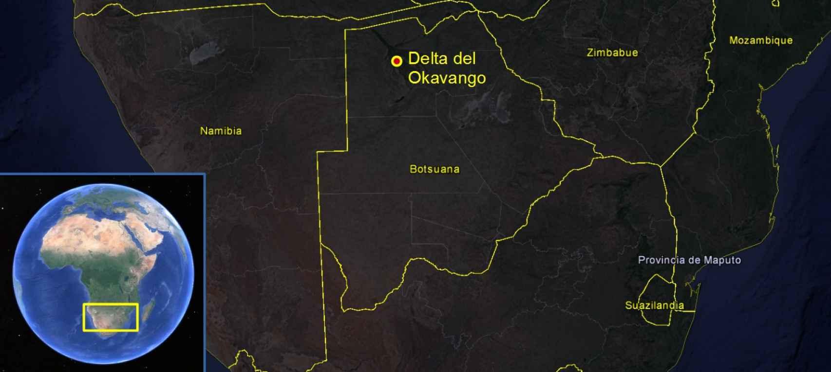 La cacería de Juan Carlos I se celebró en el delta del Okavango.