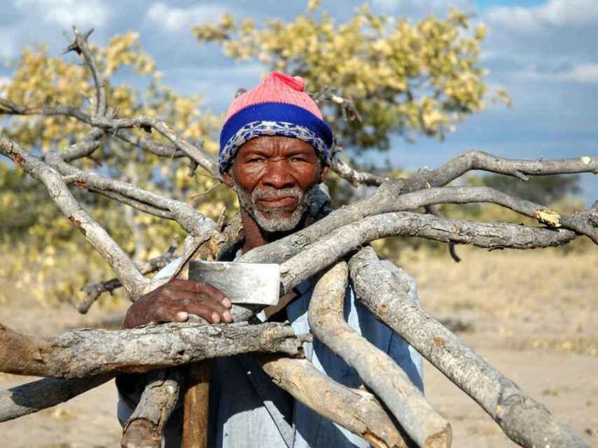 Unos 40.000 bosquimanos viven en Botsuana.