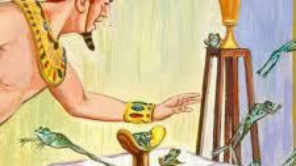Ilustración de una de las 10 plagas de Egipto