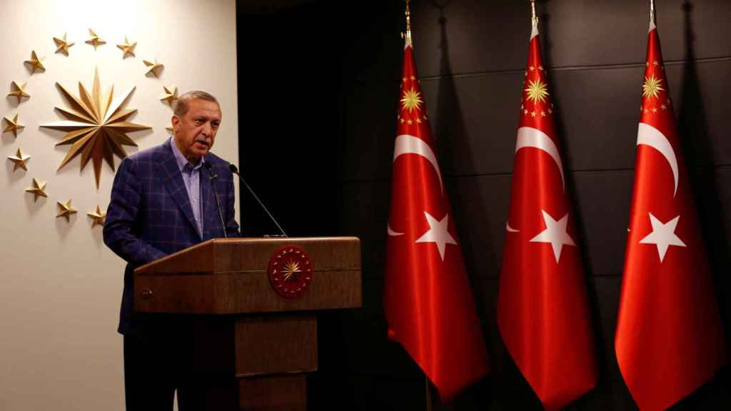 Erdogan comparece tras coonocerse los resultados.