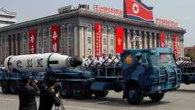 Desfile por Pyongyang este sábado.