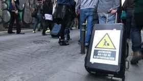 Los vecinos protestaron contra el turismo irracional en una manifestación.
